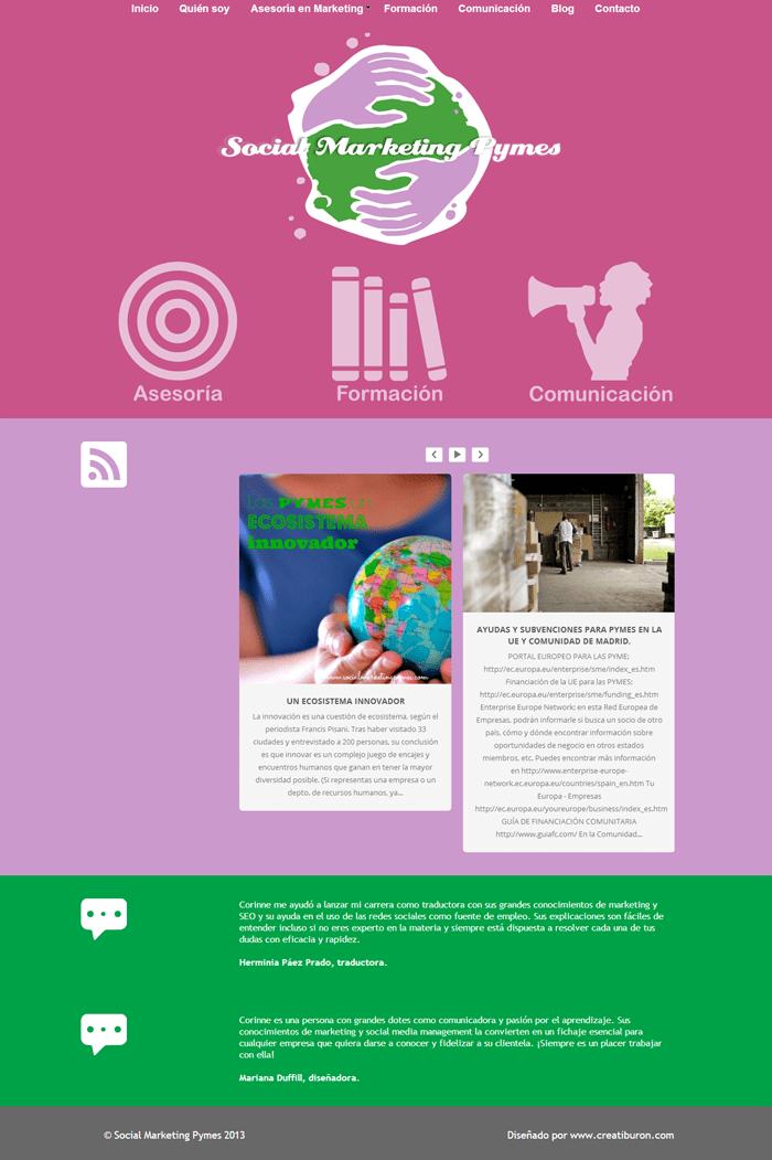 diseño de página web para autónoma