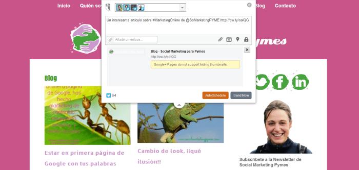publicaciones programadas con hootsuite