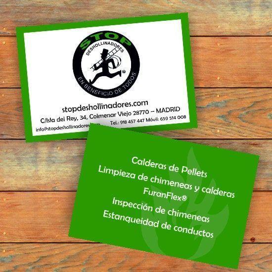 tarjetas de visita stop deshollinadores
