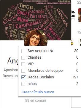 círculos de google +